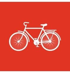 The bike icon Bicycle symbol Flat vector image