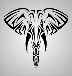 Tribal Elephant Head vector image