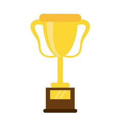 Trophy award sport icon vector