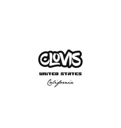 united states clovis california city graffitti vector image