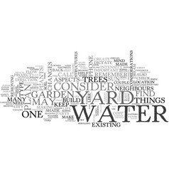 Where to put your water garden text word cloud vector