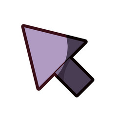 White background with purple arrowhead and thick vector