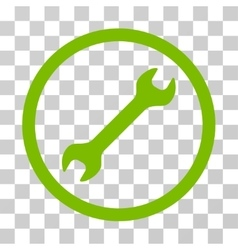 Wrench Rounded Icon vector