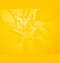 yellow cracked glass vector image