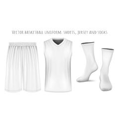 Basketball uniform templates vector