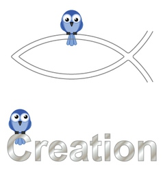 Creation text vector image