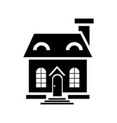 Elegant little house icon simple style vector image