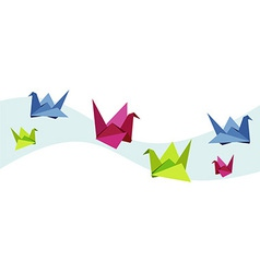 Group of various Origami swan vector image vector image