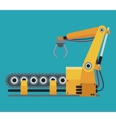 robotic production line manufacturing vector image vector image