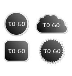 To go buttons vector image