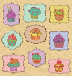 cupcakes fr vector image vector image