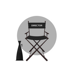 directors chair with megaphone vector image