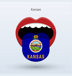 electoral vote of kansas abstract mouth vector image