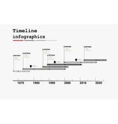 Monochrome Timeline Infographic vector image vector image