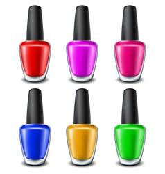 Nail polish set vector image