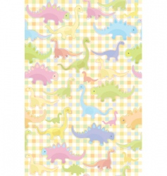 seamless pattern of cute dino vector image