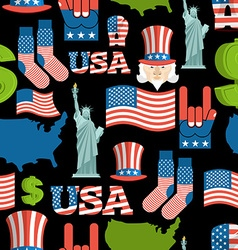 America symbols patriotic pattern USA national vector image vector image