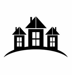 Black Castle Silhouette logo symbol vector image vector image