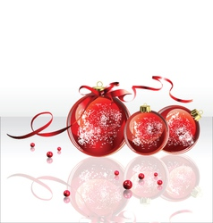 Christmas Red Ball vector image vector image