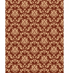 damaskwallpaper pattern vector image vector image