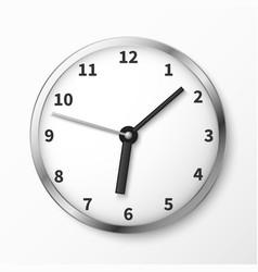 modern wall clock face vector image vector image