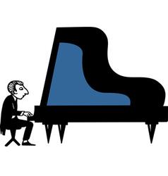 Piano Musician vector image