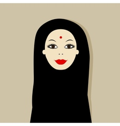 Arabic woman portrait for your design vector image