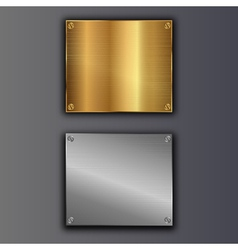 bolted plates vector image vector image