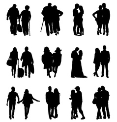 couples vector image vector image