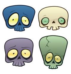 goofy skulls vector image vector image
