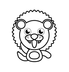 lion animal toy outline vector image