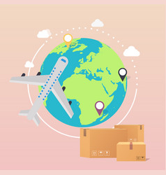 world wide delivery of a world vector image