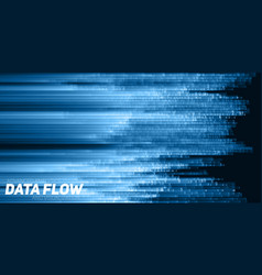 abstract big data visualization blue vector image