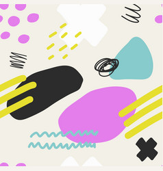 Abstract brush stroke background colorful patter vector