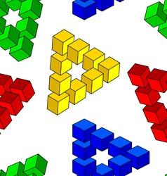 Abstract optical seamless wallpaper vector