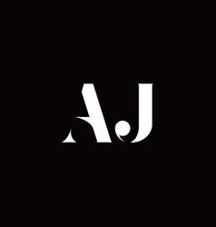 Aj logo letter initial logo designs template vector