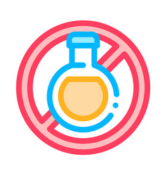 allergen free sign drink thin line icon vector image