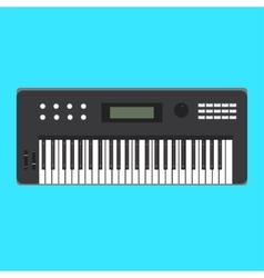 Analog synthesizer icon of vector