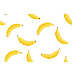 banana seamless cartoon pattern background vector image