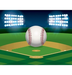 Baseball and Baseball Field vector