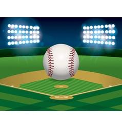 baseball and field vector image