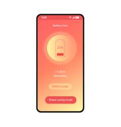 Battery saver phone optimizer app smartphone vector
