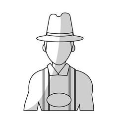 Bavarian man icon vector