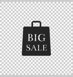 big sale bag icon on transparent background vector image