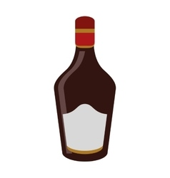 bottle cream whiskey liqueur icon vector image