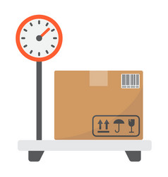 box on storage scale flat icon logistic vector image