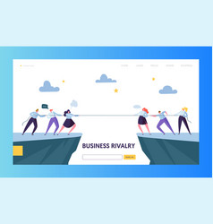 Business competition challenge landing page vector