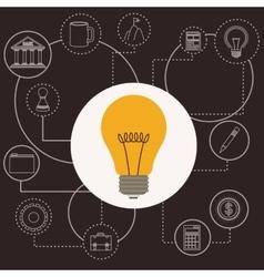 business world design vector image
