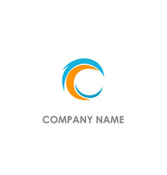 c abstract colored logo vector image