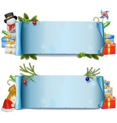 Christmas Rolls vector image